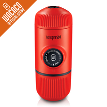 Wacaco Nanopresso Portable Espresso Coffee Maker, Upgrade Version of Minipresso, 18 Bar Pressure, Red Patrol Edition.