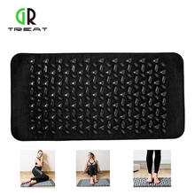 Black Foot Massage Cushion Cobblestone Pad Mat
