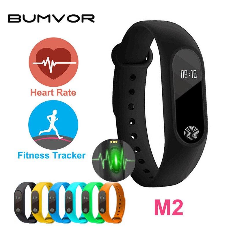 Professional Waterproof IP67 M2 Smart Wristband Fitness Heart Rate Monitor Call Reminder Pedometer Bluetooth 4.0 Bracelet Watch