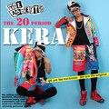 Новый бренд мужской певица Чжи-долго стиль супер модели с граффити мотоцикл кожаная куртка костюм костюмы Ночные Клубы одежда