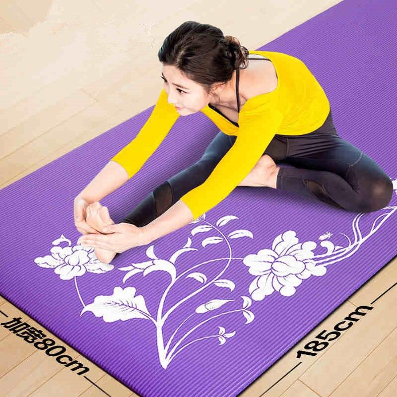 185cm 80cm 10mm Nbr Yoga Mats Fitness Tasteless Exercise