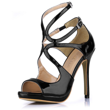 2106 New Sexy Party Shoes Women Stiletto High Heels Ladies Sandals Zapatos Mujer 0640A-5b 2017 summer red satin elegant wedding bridal shoes women stiletto high heels pears chain ladies sandals zapatos mujer 0640a 13k
