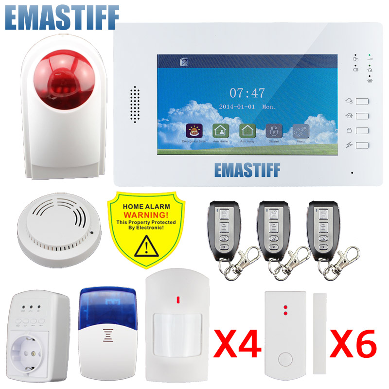 DHL X6 APP 868mhz NEW Hot Selling Home Security landline&GSM Alarm System two network alarm English/Germany/Italian/Dutch menu