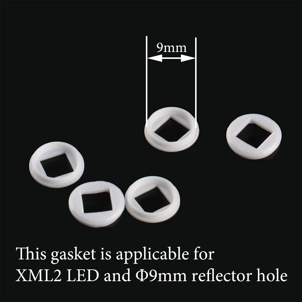 Gasket suitable for XML2 / XHP50 LED and 9mm reflector hole-in Portable Lighting Accessories from Lights & Lighting