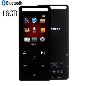 Image 3 - CHENFEC C01 métal MP3 lecteur Bluetooth 16GB lecteur de musique Sport MP3 FM enregistreur FM vidéo Audio jouer Christma MP3 cadeau brassard