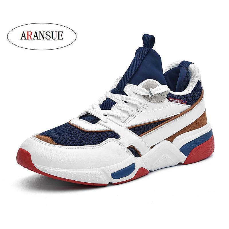 ARANSUE 2018 high top men casual shoes plus size 38 48 breathable and comfortable shoe light anti kid adult shoes high quality