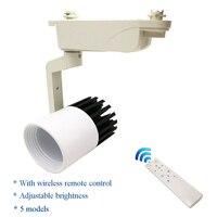 LED Luz Pista 20 W COB luzes de Teto Trilho regulável + controle remoto Sem Fio  brilho e temperatura de cor ajustável