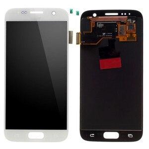Image 4 - Amoled לסמסונג גלקסי S7 G930A G930F SM G930F LCD תצוגת מסך מגע Digitizer עצרת החלפה עם לשרוף צל