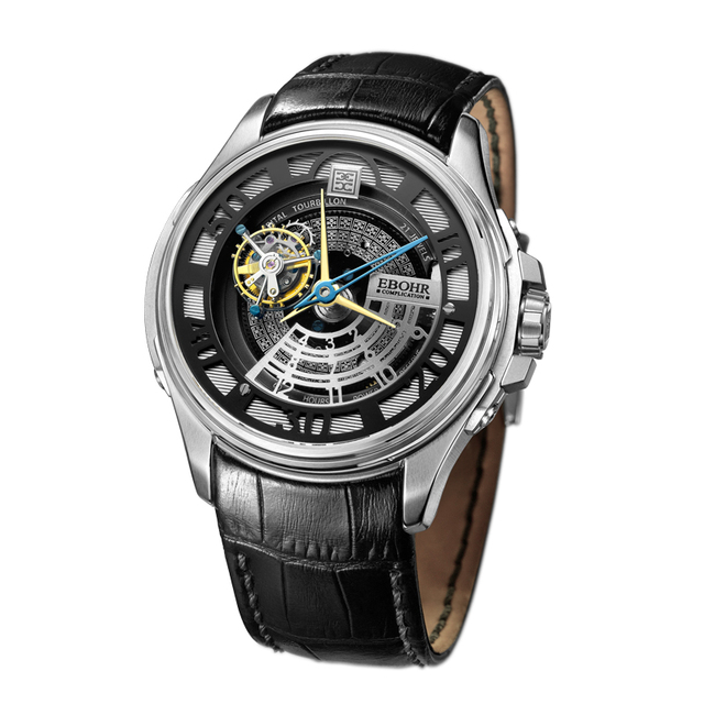 EBOHR brand luxury machinery successful men's Mechanical watch waterproof business casual fashion watch 2019 new Ebohr 60130136
