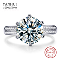 Luxury 3 Carat NSCD Synthetic Simulated Diamond Ring for Women 925 Sterling Silver Engagement Rings Sona Diamond Wedding Ring
