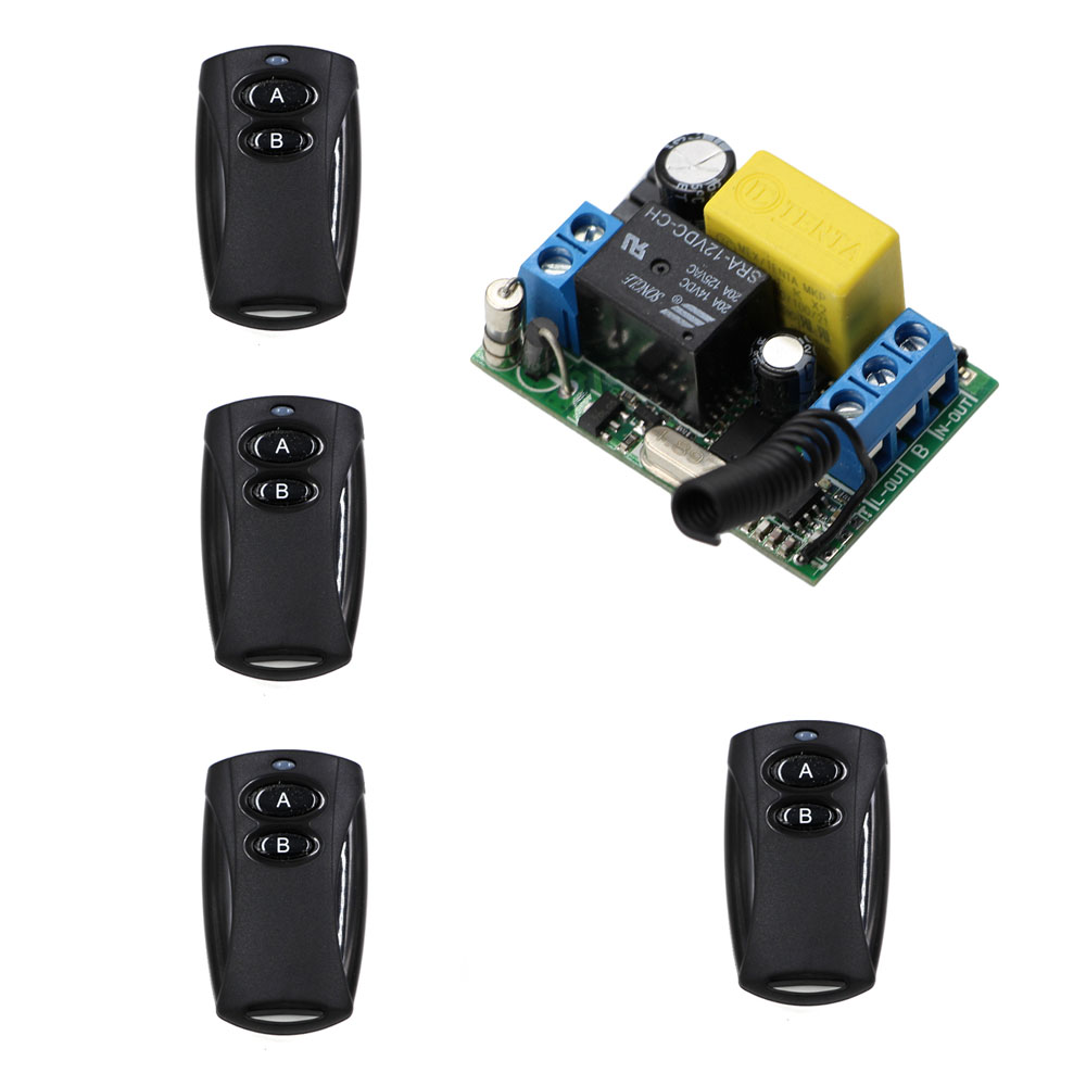 AC 220V 10A RF Wireless Remote Control Switch Light/LED/Lamp Applicance ON OFF Switch Receiver and Black Transmitter big promotion 2keys 2ch 315 433mhz rf wireless remote control black transmitter without receiver on off