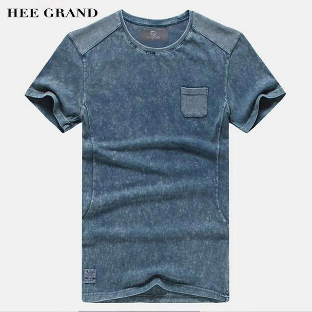 HEE GRAND 2017 Hot Sale Men Summer T- Shirts Casual Typical Style 100% Cotton Comfortable Material Men Top Tees MTS2381