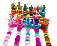 Compatível com legoings relógio legoingly ninjagoingly blocos de construção tijolos crianças relógio brinquedos para crianças presente