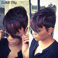 Short Ombre Haircuts For Women Pixie Cute Black Women Haistyles Cheap Ombre Wigs For Women Short Pixie Wigs Ombre Brown Wig