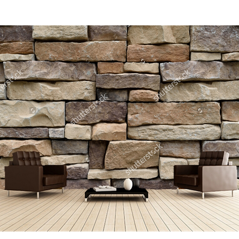 Buy custom 3d stereoscopic wallpaper for 3d stone wallpaper for walls