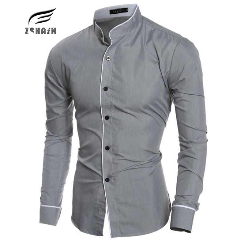 Casual Overhemd Slim Fit.Aliexpress Com Buy 2017 Fashion Collar Mens Brand Shirt Long