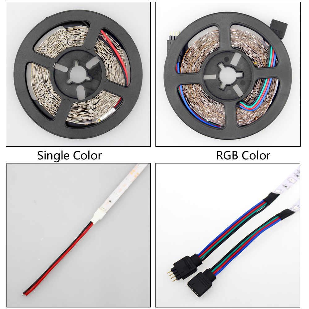 Светодиодная лента 12 v 5 m 300 светодиоды не Водонепроницаемая теплая белая rgb лента-тесьма со светодиодами smd 2835 led 12 v ledstrip для дома автомобиля