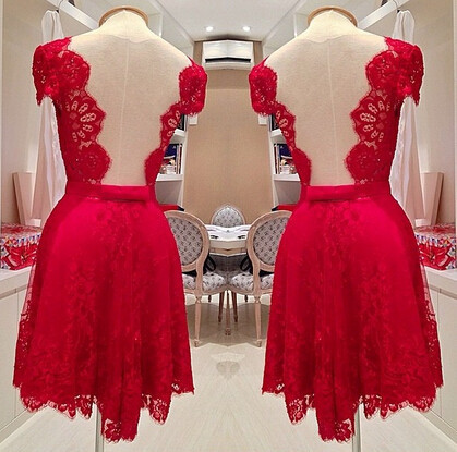 New-2014-Plus-size-L-3XL-Hot-selling-red-lace-dress-backless-women-vestido-de-renda