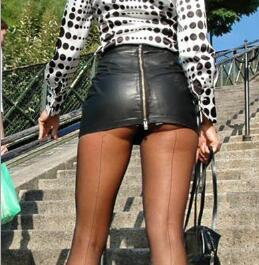 These short skirts feature unique accents and designs. Some use a sheer black or white material that is see through when viewed under certain light. Others have features like a tear away design that allows the mini skirt to fall or be ripped off you without suffering any damage.