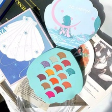 New 14 Colors Mermaid Shell Eyeshadow Pallete Shimmer Matte Ultral Pigmented Diamond Glitter Palette Makeup