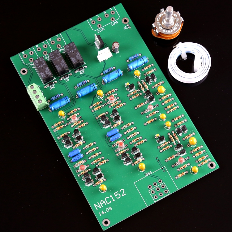 Assembled hifi Stereo preamplifier board base on naim NAC152 preamp