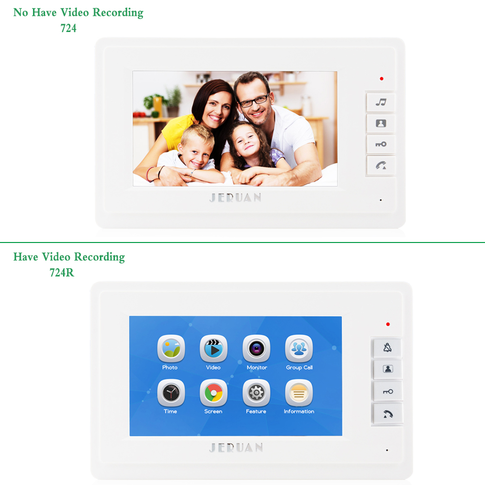 JEX 7 inch video intercom door phone system Only Monitor indoor Unit + Power Adapter FREE SHIPPING 724 jeruan 7 inch video intercom door phone system only monitor indoor unit power adapter free shipping 724