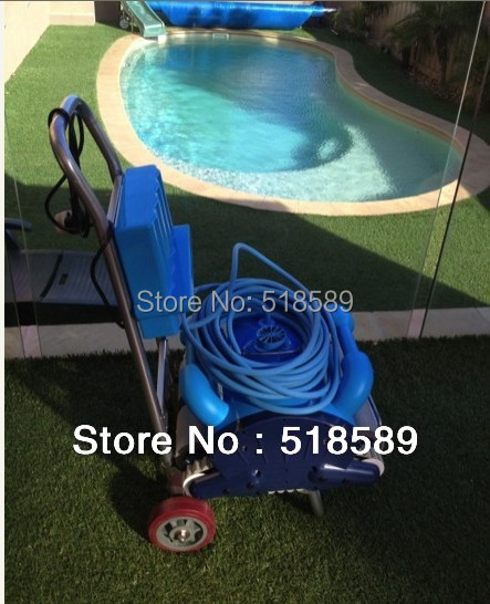 Free Shipping Robot Cleaner Swimming Pool With Spot Cleaning,Wall Climbing+Remote Controller+15m Cable+Area:100-200m2