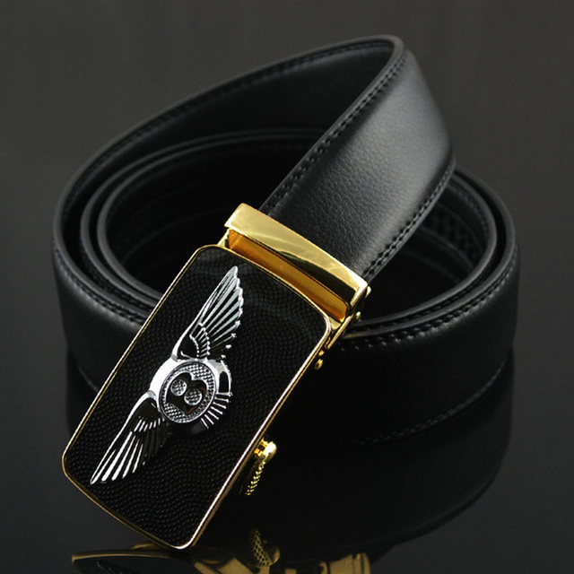 Bentley Designers Luxury Cowhide Brand Genuine Leather Automatic Buckle Belts for Mens High Quality Male Cowskin Ceinture Homme