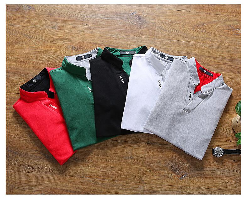 2019 New Arrival Cotton Men Polo Shirt Tops Fashion Brand Plus Size Short Sleeve Black White Polo Shirt Homme Camisa 5XL 3
