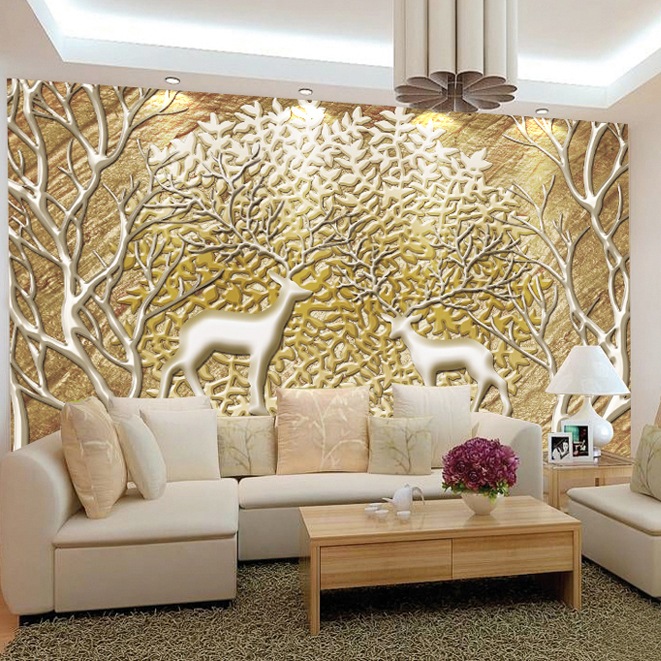 High Quality European Art Abstract Large 3d Mural Wallpaper 3d