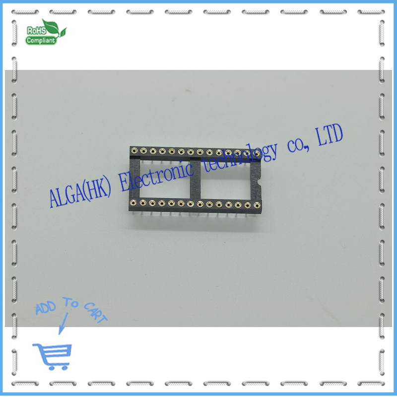 Free Shipping 200pcs 28pin DIP sockets Adaptor Solder round hole type 28pin wide-body.