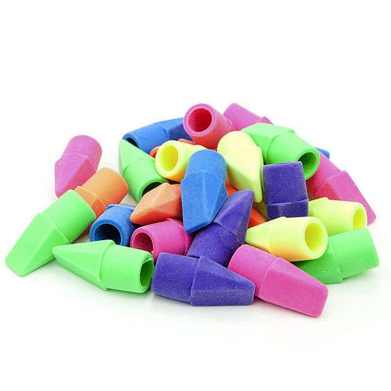 Pencil Top Eraser Caps Arrowhead Assorted Colors In Bulk Pack Of 150