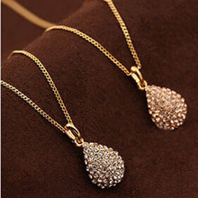 Hot new high quality silver plated jewelry fashion noble women classic shiny crystal zircon drop necklace N604(China)