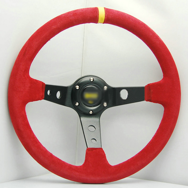Ipoboo Новый Универсальный спортивный 4125/350 мм замши глубокое блюдо руль Красный с желтой полосой