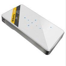 Buena 60 Pulgadas P1 Ultimate Edition Celebración Mini Proyector Casero Del HD 1080 p 3D Proyector de Vídeo Portátil WIFI Conectar El Móvil proyector