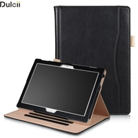 Dulcii Cover For Lenovo Tab 4 10 10 Plus Pocket Front Smart PU Leather Stand Case