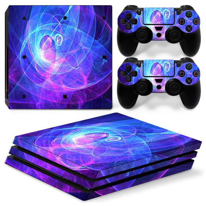 Game Symbol Design Vinyl Skin Sticker for Sony PS4 Pro Console and 2 Controllers Decal Cover Game Accessories