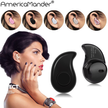 50PCS/lot Mini Stereo Music Wireless Bluetooth Earphone Headset S530 4.0 In-Ear Handfree Headphones for Samsung iPhone Headphone