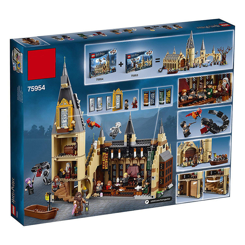 New Harri Potter Serices Hogwarts Great Hall Compatibility Legoing Harry 75954 Potter Building Blocks Bricks Toys Gift Christmas