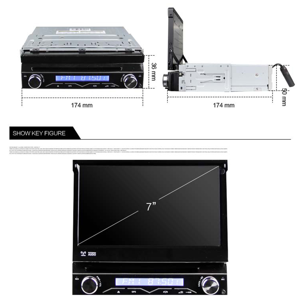 Eunavi Штатная магнитола андроид системный блок автомагнитола магнитола 1din с навигацией 1 din dvd мультимедиа автомобиля головное устройство GPS 4...