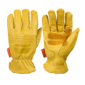 OZERO 1Pairs Mechanics Work Gloves Sheepskin Anti Impact Safety Glove Garden Gloves Leather Welding/Motorcycle