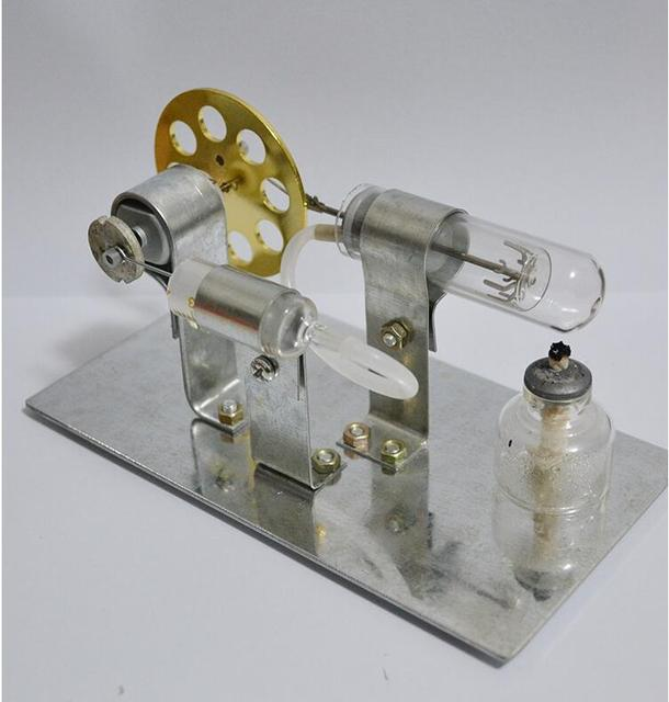 So Cool !!! hot sale Mini Hot Air Stirling Engine Motor Model Educational Toy Kits best childeen gift  Educational Science Toys
