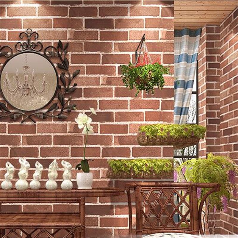 Beibehang Chinese Retro Brick Wallpaper Antique Brick