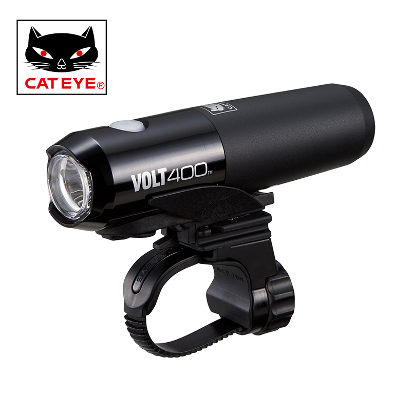 CATEYE Bicycle Front Light Bike LED Lamp USB Rechargeable Battery MTB Bike Light Cycling Riding Portable Safety Bike Accessories