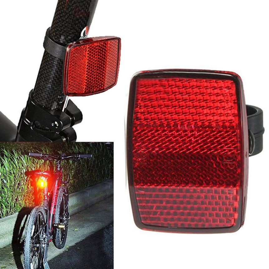 Handlebar Mount Safe Reflector Bicycle Bike Front Rear Warning New Bike Trailer Reflective Film Reflective Tape Bicycle Decals