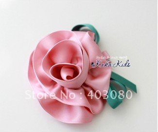 Girl pink carnation hairpin,kid Headwear,girl Alice band,Free freight/wholesale
