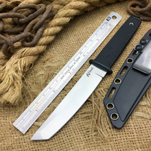 Hot 17T Fixed Blade Tactical Knife 440 Steel Rubber Handle Outdoor Camping Knives Utility Survival Knife EDC Hunting Tools