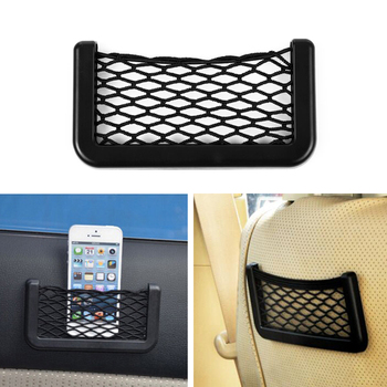Auto Phone Holder Pocket Organizer Mesh Net Bag For BMW E46 E39 E90 E60 F30 Peugeot 206 307 308 207 Chevrolet Cruze image
