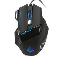 Wired USB Gaming Maus, 7 schlüssel Professionelle PC Laptop Computer Maus Gamer Mäuse Bunte LED 5000 dpi USB Optische Maus