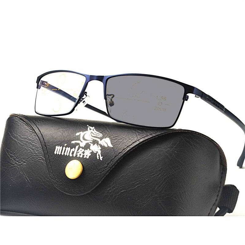 Multifocales progressives lunettes Transition Lunettes De Soleil  Photochromiques Lunettes de Lecture Hommes Points pour Lecteur Près 91c74700dfe1